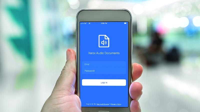 Audio Documents écran mobile