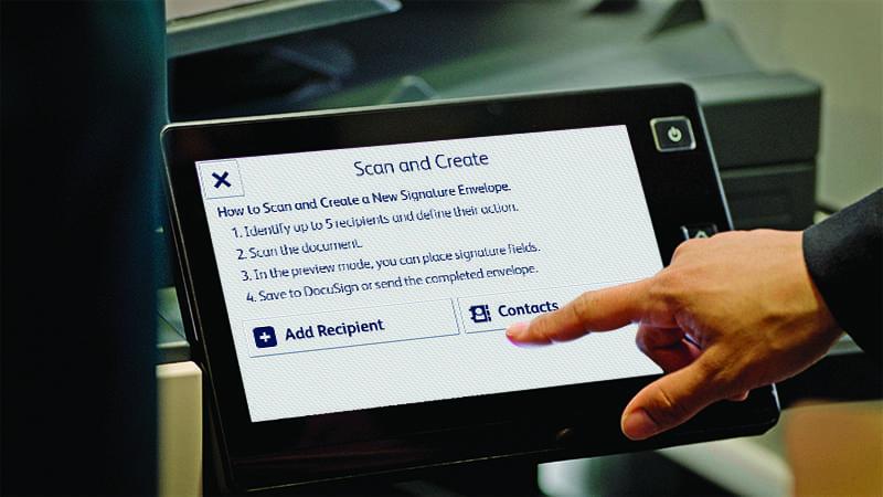 App tablette création DocuSign