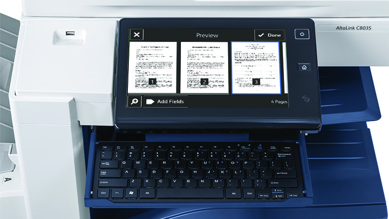 Écran scanner application DocuSign