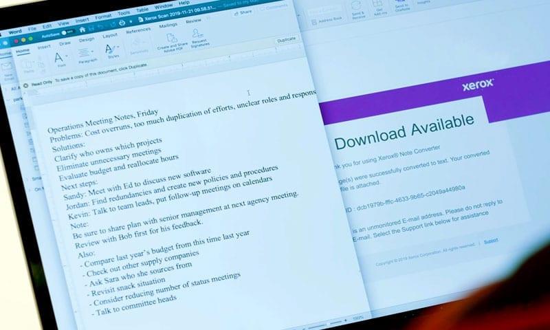 Application Note Converter écran de tablette