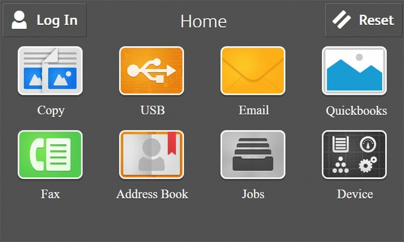 Capture d'écran page d'accueil Quickbooks